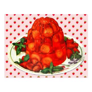 Strawberry-banana jello dessert postcard