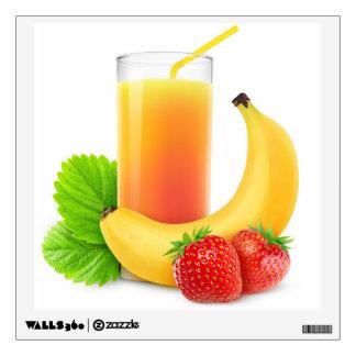 Strawberry banana shake wall decal