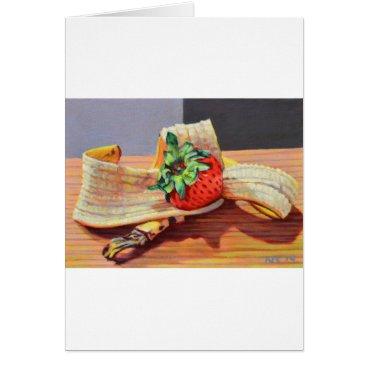 Beach Themed Strawberry Banana Split Card