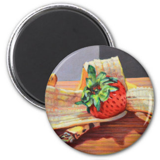 Strawberry Banana Split Magnet