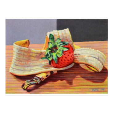Beach Themed Strawberry Banana Split Postcard