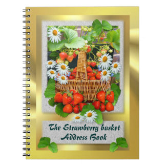 Strawberry Basket ~ Address Book Note Book