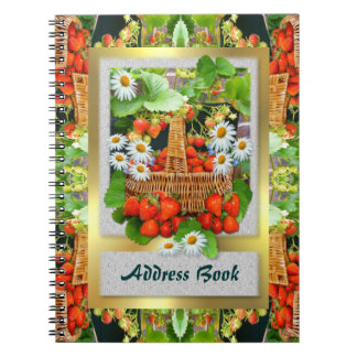 Strawberry Basket ~ Address Book Note Books