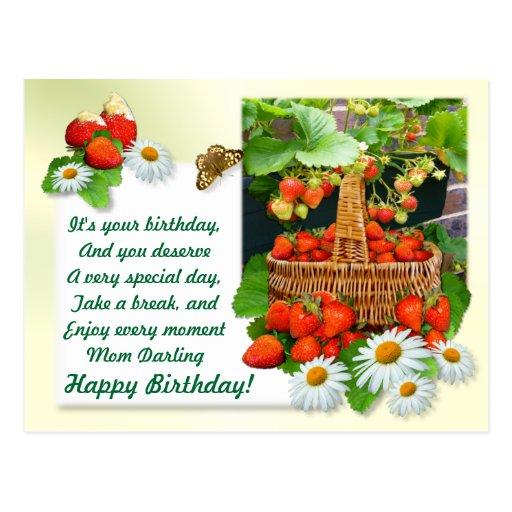 Strawberry Basket ~ Birthday Postcard # 2