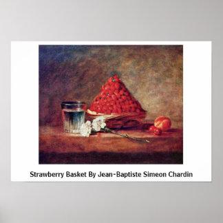 Strawberry Basket By Jean-Baptiste Simeon Chardin Poster