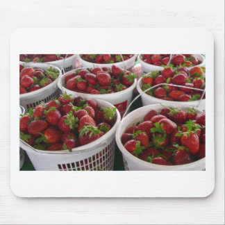strawberry basket mouse pad
