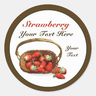 Strawberry Basket Sticker