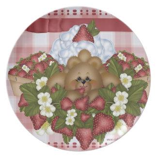 Strawberry Bear Dinner Plate