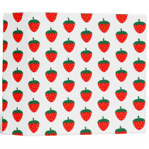 Strawberry Berry Fruit Red Farm Produce Summer 3 Ring Binder