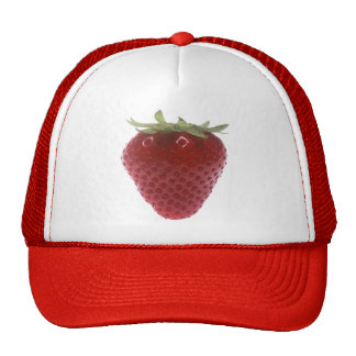 Strawberry big red mesh hats