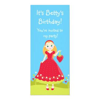 Strawberry Birthday Party Girl invitation