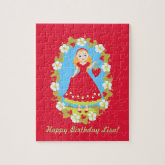 Strawberry Birthday Party Girl Jigsaw Puzzle