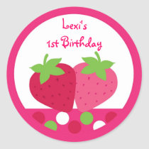 Strawberry Birthday Stickers