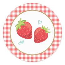 Strawberry birthday stickers Envelope seal picnic