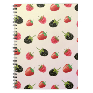 Strawberry, Blackberry, Raspberry: delicious fruit Spiral Notebook