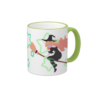 Strawberry Blond Witch Ringer Coffee Mug