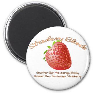 Strawberry Blonde 2 Inch Round Magnet