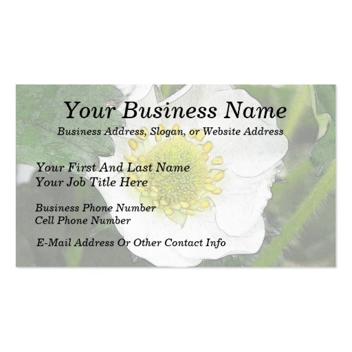Strawberry Blossom Double-Sided Standard Business Cards (Pack Of 100)
