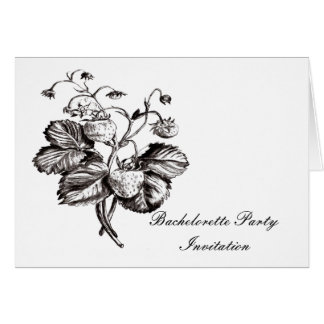 Strawberry  botanical Bachelorete party invitation