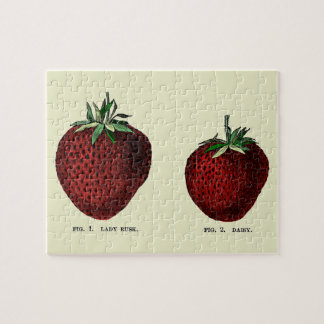 Strawberry Botanicals Jigsaw Puzzle