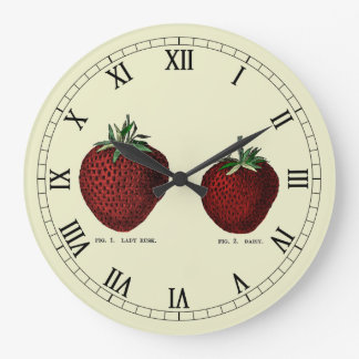 Strawberry Botanicals Large Clock