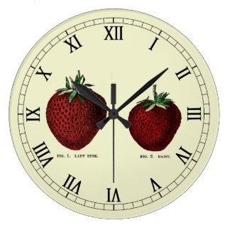 Strawberry Botanicals Round Wall Clocks