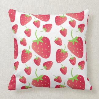 Strawberry Bunch Throw Pillow