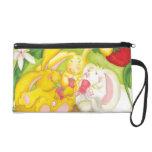 Strawberry Bunny Tea/Bagettes Bag Wristlet Purse