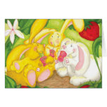 Strawberry Bunny Tea / Notecard Greeting Cards