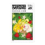 Strawberry Bunny Tea / Postage Stamps