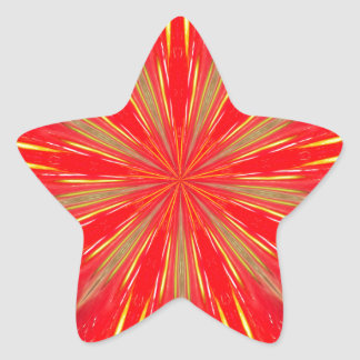 Strawberry Burst Home Decor Star Sticker
