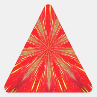 Strawberry Burst Home Decor Triangle Sticker