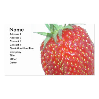 Strawberry, Business Card
