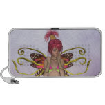 Strawberry Butterfly Fairy Doodle Portable Speakers