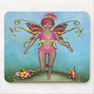 Strawberry Butterfly Fairy Mousepad