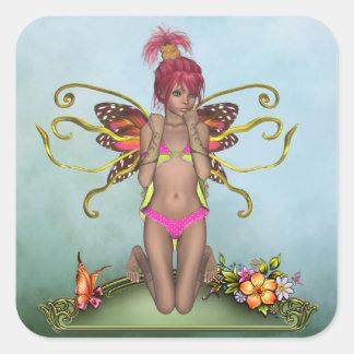 Strawberry Butterfly Fairy Sticker