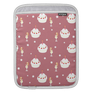 Strawberry Cake and Umbrella Fruit Drinks Pattern Sleeves For iPads