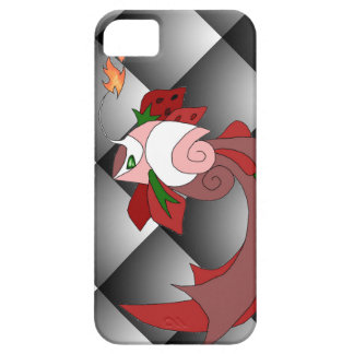 Strawberry Cake Fish iPhone 5/5s Cover BlackQuilt2