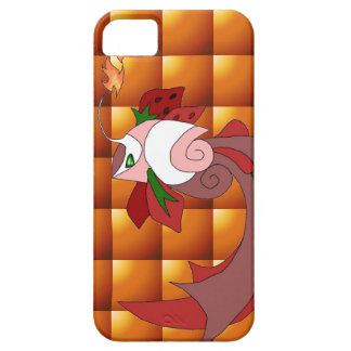 Strawberry Cake Fish iPhone 5/5s Cover Fire Quilt