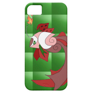 Strawberry Cake Fish iPhone 5/5s Cover Green Quilt