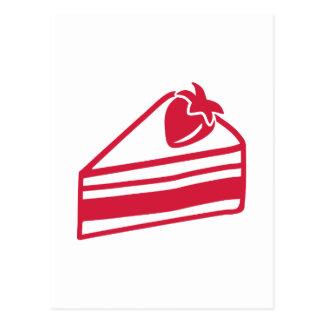 Strawberry cake postcard