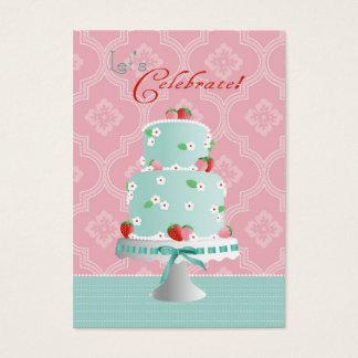 Strawberry Cake Reminder Card