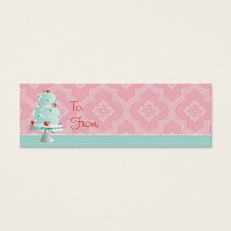 Strawberry Cake Skinny Gift Tag Mini Business Card