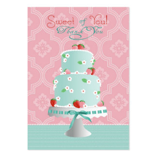 Strawberry Cake TY Gift Tag Large Business Cards (Pack Of 100)