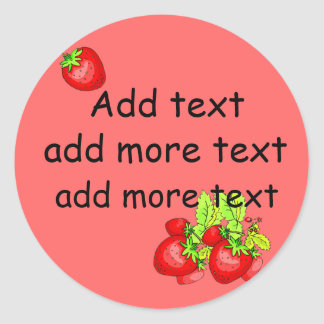 Strawberry Canning Labels Classic Round Sticker