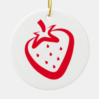 Strawberry Ceramic Ornament