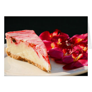 Strawberry Cheesecake And Orchids Greeting Card