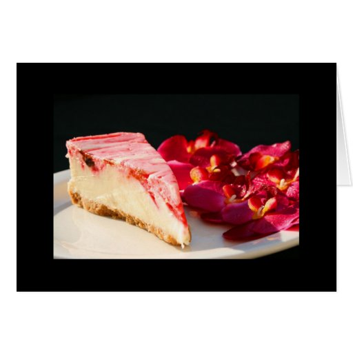 Strawberry Cheesecake And Orchids Greeting Card an