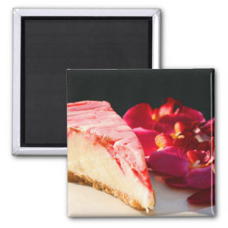 Strawberry Cheesecake And Orchids Magnet
