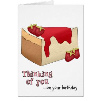 Strawberry Cheesecake Birthday Card